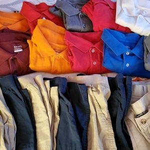 Polos and khaki  lot